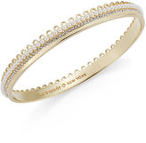 Kate Spade Gold-Tone Imitation Pearl and Crystal Bangle Bracelet