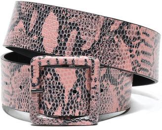Alice + Olivia Snake-effect Leather Belt
