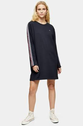 Tommy Hilfiger Womens Black Long Sleeve Dress By Tommy Jeans - Black