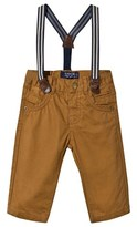 Mayoral Chestnut Chinos with Suspenders