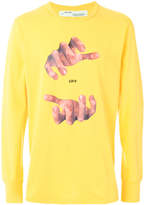 Off-White hands long sleeve top