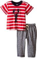 Hatley Lobsters Tee & Track Pants Set (Infant)