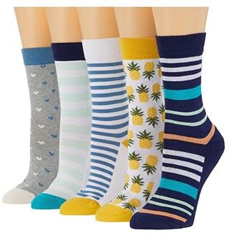 Pact Organic Cotton Socks Bundle 5-Pack (Spring Pack A) Women's Crew Cut Socks Shoes
