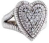 Judith Ripka 18K Pavé Diamond Heart Ring