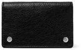 Balenciaga Arena Creased-leather Cardholder - Black