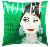 Kate Spade Dazzle and Delight Square Throw Pillow in Green/Multi