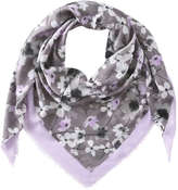 Joe Fresh Women's Floral Square Scarf, Khaki Green (Size O/S)
