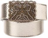 Valentino Metallic Snakeskin Belt