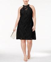 Love Squared Trendy Plus Size Lace Halter Dress