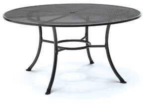 "Red Barrel Studio Detwiler Round Chat Table Table Top Size: 28"" H x 48"" W x 48"" L"