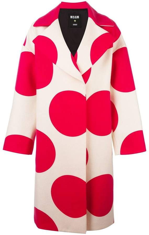MSGM polka dots print coat