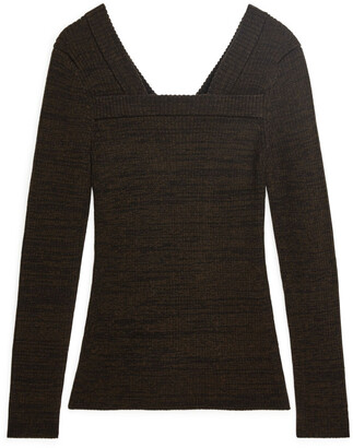 Arket Fitted Square-Neck Jumper