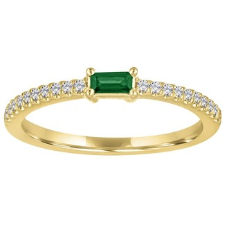 My Story Julia Emerald Yellow Gold Ring