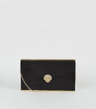 New Look Suedette Envelope Clutch Bag