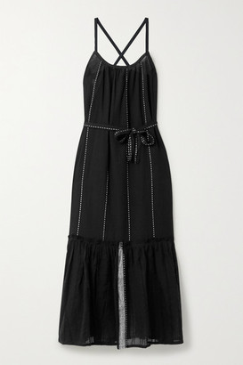 Lemlem Tikuri Cotton-gauze Midi Dress - Black