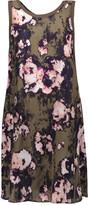 Enza Costa Ruffled floral-print voile mini dress