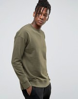 Selected Sweatshirt With Dropped Shoulder