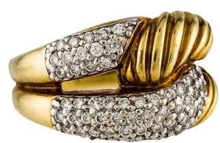 David Yurman 18K Diamond Labyrinth Ring