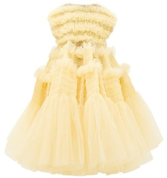 Molly Goddard Skye Shirred Ruffled-tulle Dress - Womens - Cream