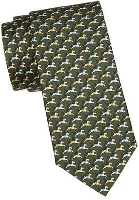 Salvatore Ferragamo Dog-Print Silk Tie