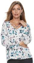 Apt. 9 Women's Criss-Cross Chiffon Top