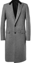 Balenciaga - Slim-fit Houndstooth Check Wool And Cotton-blend Coat