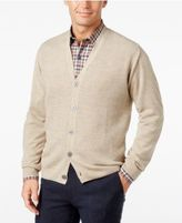 Weatherproof Vintage Men's Big and Tall Textured Cardigan, Classic Fit