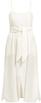 Dakota Belize Raw Cotton Dress - Womens - Ivory