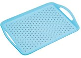 Kitchen Craft Colourworks Non-Slip Plastic Serving Tray by KitchenCraft, 41 x 28.5 cm (16 x 11 Inches) - Blue