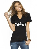 Peace Love World I am Chaos V-Neck Tee