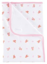 Ralph Lauren White and Pink Bear Print Blanket