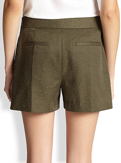 Alexander Wang Distressed Patterned Twill Shorts