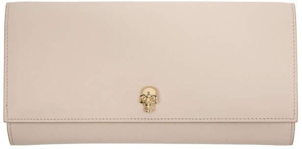 Alexander McQueen Pink Skull Travel Wallet