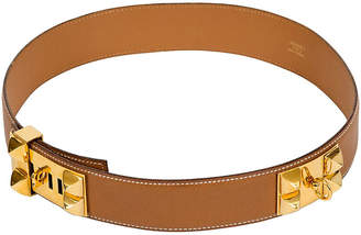 One Kings Lane Vintage Hermes Gold Collier de Chien Belt - Vintage Lux