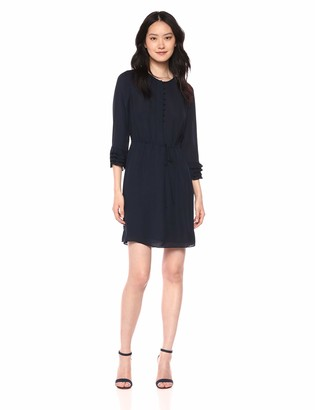 Rebecca Taylor Women's Long Sleeve Ruffle Dress