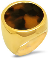 Simulated Tortoise Shell Statement Ring