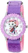 Disney Girl's 'Sheriff Callie' Quartz Stainless Steel and Nylon Watch, Color:Purple (Model: W003085)