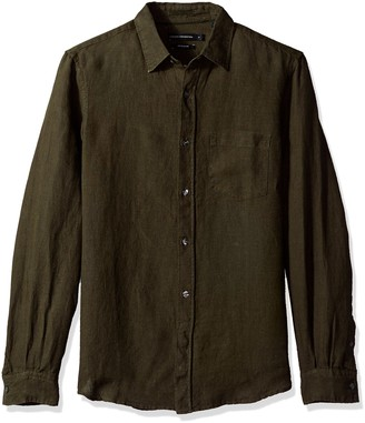 French Connection Men's Relaxed Linen Loose Shirt