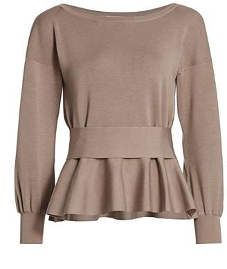 Agnona Wool Blend Peplum Sweater
