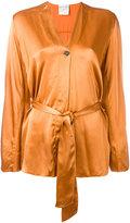 Forte Forte belted jacket - women - Viscose - 0