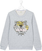 Kenzo tiger patch sweatshirt - kids - Cotton - 14 yrs