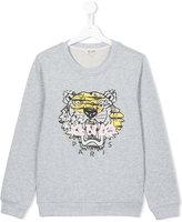 Kenzo tiger patch sweatshirt - kids - Cotton - 14 yrs
