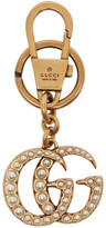 Gucci Gold Gg Pearl Keychain