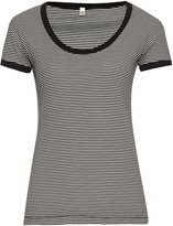 R 13 Striped cotton-blend T-shirt