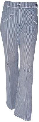 Chanel Blue Cotton Jeans for Women Vintage