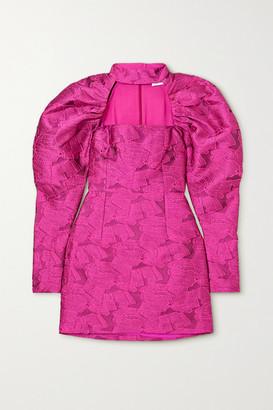 Rotate by Birger Christensen Kaya Cutout Jacquard Mini Dress - Fuchsia
