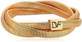 Diane von Furstenberg Gemma Interlocked Skinny Stacked Gold Bracelet