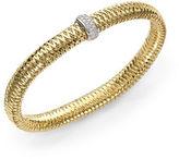 Roberto Coin Primavera Diamond & 18K Yellow Gold Medium Woven Bracelet
