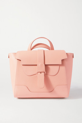 Senreve Midi Maestra Convertible Textured-leather Shoulder Bag - Blush