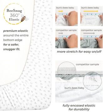 Burt's Bees Baby Stripe Organic Cotton BEESNUG Fitted Crib Sheet